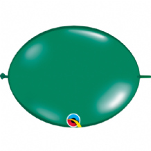 Qualatex Quick Link Balloons - 12 Inch Emerald Green Quick Link Balloons (50pcs)